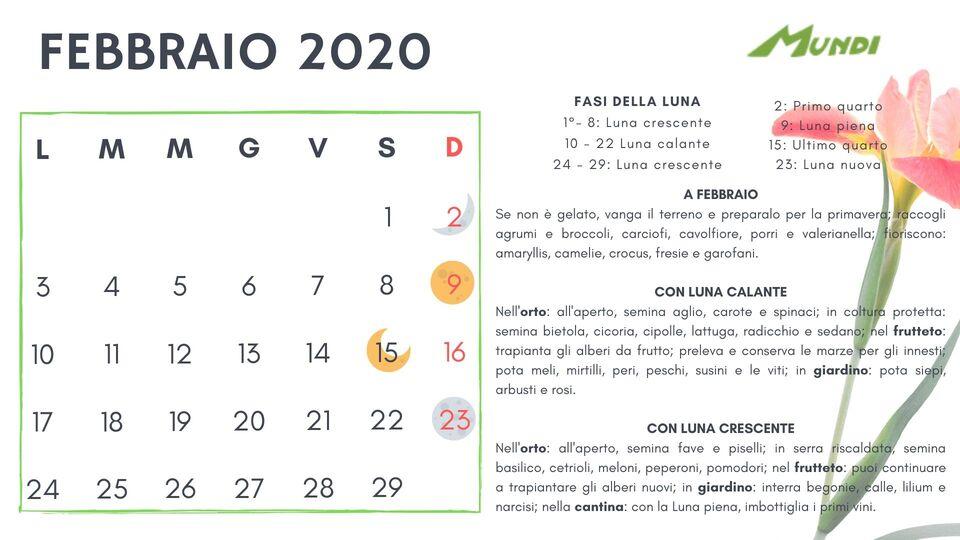Calendario Di Semina.Calendario Lunare 2019